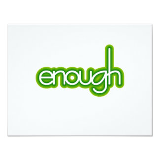 Enough (lime) card