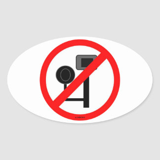 ENOUGH! No more red light or speed cameras! Oval Sticker