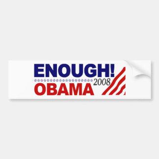 ENOUGH! (Obama 2008) Bumper Stickers