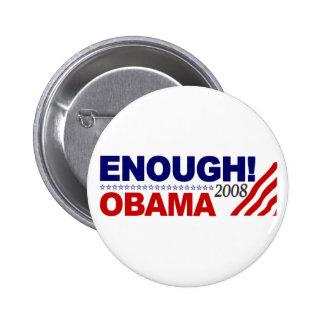 ENOUGH! (Obama 2008) Pinback Buttons