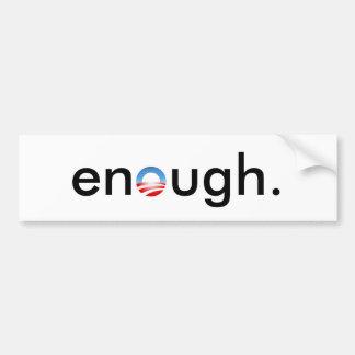 enough obama bumper sticker