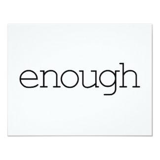 Enough (simple) card