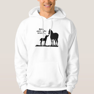 Enquiring Foal and Mother Hoodie