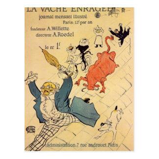 Enragee del vache del La por Toulouse-Lautrec Postal