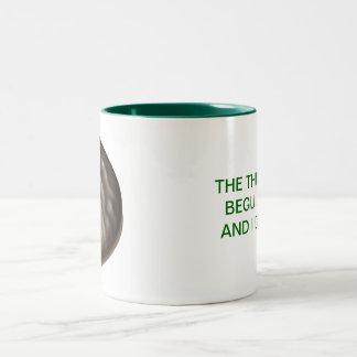 Enrarezca las mentas taza de dos tonos