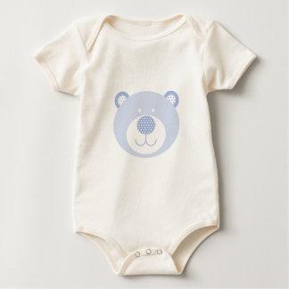 Enredadera amistosa azul linda del oso trajes de bebé