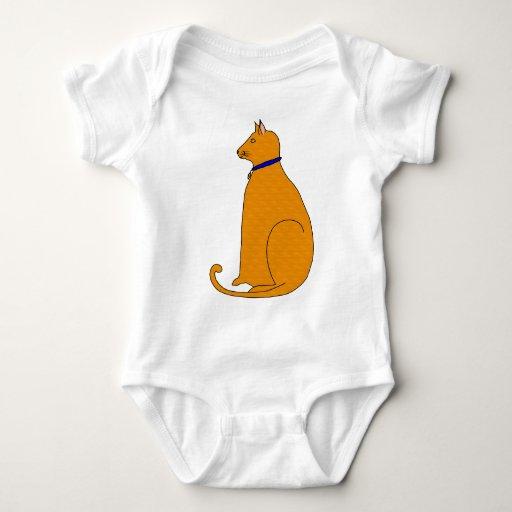 Enredadera anaranjada del gato del bebé playeras