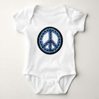 enredadera azul del signo de la paz body para bebé