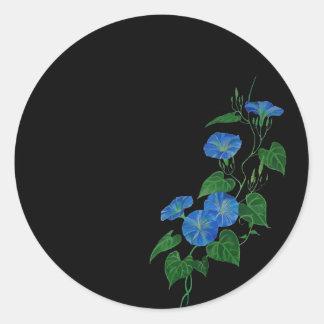 Enredadera azul etiquetas