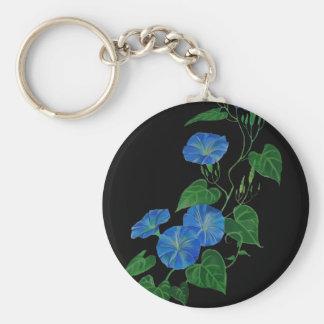 Enredadera azul llavero redondo tipo pin