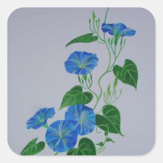 Enredadera azul pegatina