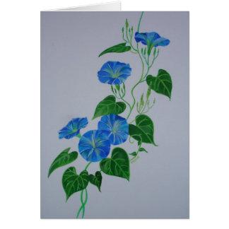 Enredadera azul felicitacion