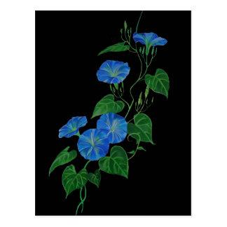 Enredadera azul tarjeta postal