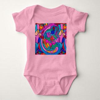 enredadera colorida del bebé del amor del polera