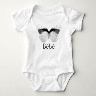 Enredadera de Bébé con la mariposa blanco y negro Tshirt