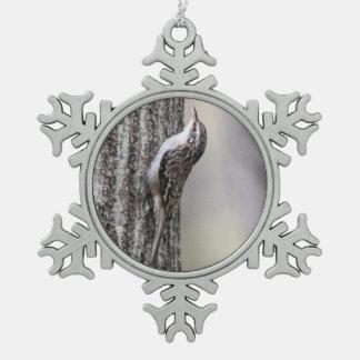 Enredadera de Brown Adorno De Peltre En Forma De Copo De Nieve