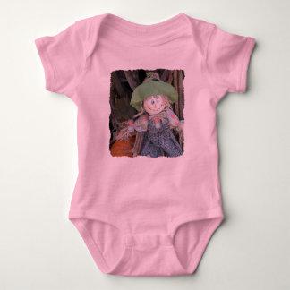 Enredadera decorativa del bebé del espantapájaros remeras