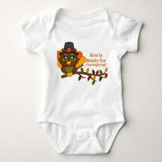 Enredadera del bebé de HooThanksgiving Playera