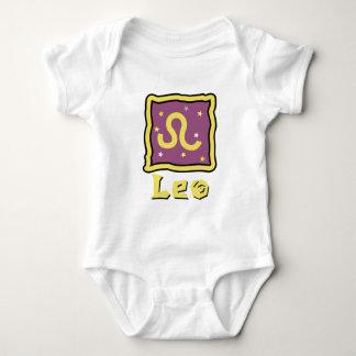 Enredadera del bebé de Leo o camiseta linda del Poleras