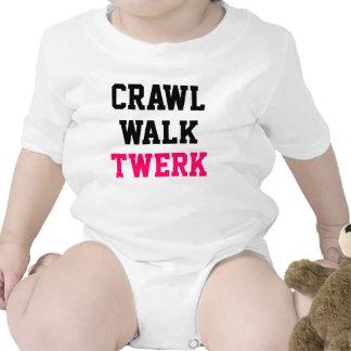 Enredadera del bebé de Twerk del paseo del arrastr Traje De Bebé