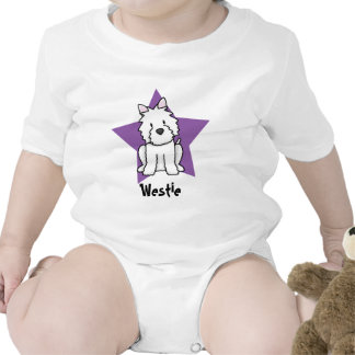 Enredadera del bebé de Westie de la estrella de Traje De Bebé
