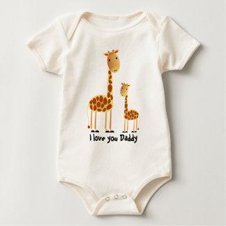 Enredadera del bebé del día del ` s del padre de traje de bebé
