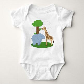 Enredadera del bebé del safari del niño body para bebé