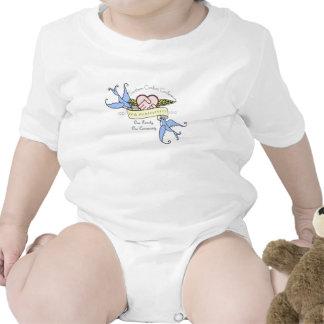 Enredadera del bebé - pastel del diseño del aniver camisetas