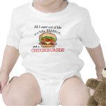 Enredadera del cheeseburger del bebé traje de bebé