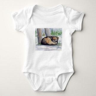 Enredadera del navidad del lobo en descanso body para bebé