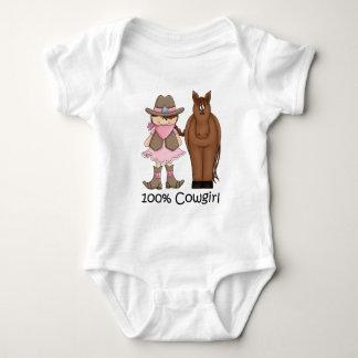 Enredadera del niño de la vaquera 100% y del mameluco de bebé