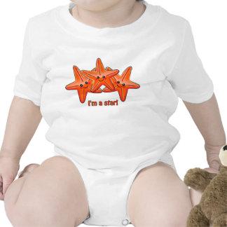 Enredadera del niño de las estrellas de mar trajes de bebé