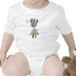 Enredadera del niño del arco iris trajes de bebé