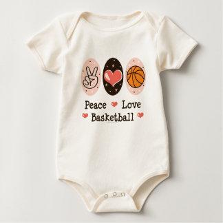 Enredadera del niño del baloncesto del amor de la body para bebé