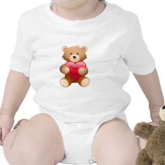 Enredadera del niño del bebé del corazón del oso d camisetas