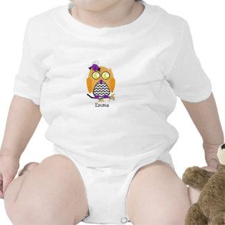Enredadera del niño del búho de Chevron Halloween Trajes De Bebé