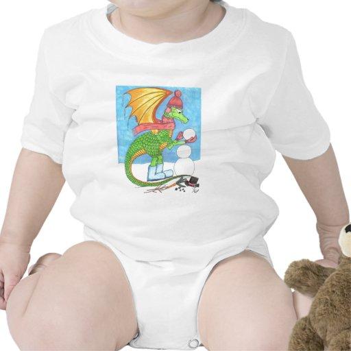 Enredadera del niño del dragón de la nieve trajes de bebé