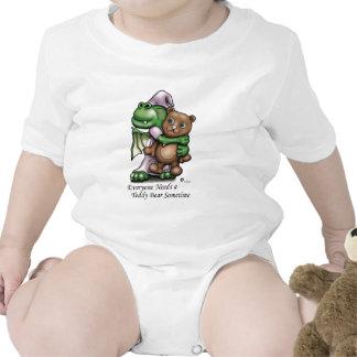Enredadera del niño del dragón y del oso camiseta