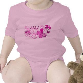 Enredadera del niño del hibisco del Doodle Traje De Bebé