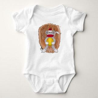 Enredadera del niño del mono del calcetín del playeras
