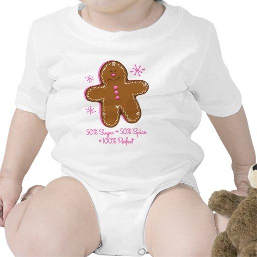 Enredadera del niño del pan de jengibre del azúcar trajes de bebé