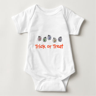 Enredadera del niño del truco o de la invitación body para bebé
