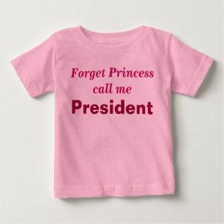 Enredadera del presidente de la niña playera de bebé