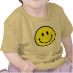 Enredadera feliz del niño de la cara camisetas