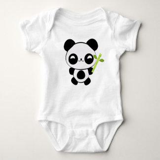 Enredadera feliz del niño de la panda del bebé playera