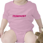 Enredadera feminista del bebé trajes de bebé