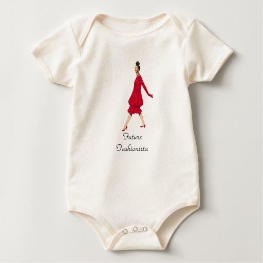 Enredadera futura de la moda del vintage del body de bebé