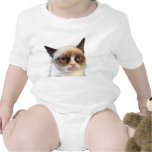 Enredadera gruñona del niño del gato traje de bebé