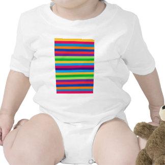 Enredadera infantil con las rayas de la diversión camiseta