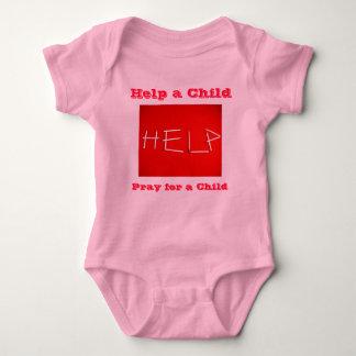Enredadera infantil del onsie de la ayuda playeras